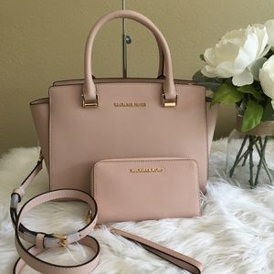 New Michael Kors medium Selma Satchel & wallet